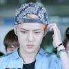 หมวกลายวินเทจ สีน้ำเงิน แบบ Sehun