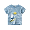 เสื้อแขนสั้นสีฟ้าลายน้องหมีโต้คลื่น แพ็ค 6 ชิ้น [size 2y-3y-4y-5y-6y-7y]