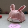 หมวกเด็กลายกระต่ายสีชมพู