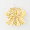 ชุดเดรสสีเหลืองลายดอกไม้ แพ็ค 4 ชุด [size 6m-1y-18m-2y]