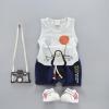 เสื้อ+กางเกง สีเทา แพ็ค 4 ชุด ไซส์ 80-90-100-110