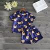 ชุดนอนลายน้องหมีสีน้ำเงิน แพ็ค 3 ชุด [size 4y-5y-6y]