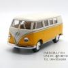 โมเดลรถเหล็ก รถตู้โฟล์ค รถเต่า Volksawagen Classical bus 1962 สีเหลือง