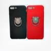 ไอโฟน 7plus5.5 นิ้ว เคสนิ่มเนื้อกำมะหยี่ติดแหวนหมีchengo