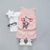 ชุดเซตเสื้อกล้ามสีชมพูลายน้องแมว+กางเกงสีชมพู [size 6m-1y-2y-3y]