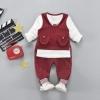 เสื้อ+เสื้อกั๊ก+กางเกง สีแดง แพ็ค 4 ชุด ไซส์ 70-80-90-100 (เหมาะสำหรับ 6ด.-4ปี)