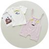 เสื้อ+เอี๊ยมกางเกง สีชมพู แพ็ค 3 ชุด ไซส์ 90-100-110