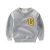 เสื้อกันหนาวสีเทาแต่งตัว G ที่หน้าอก แพ็ค 4 ชิ้น [size 2y-3y-5y-6y]