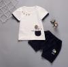 เสื้อ+กางเกง สีกรม แพ็ค 4 ชุด ไซส์ 80-90-100-110
