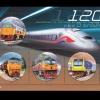 ชุดชีท แสตมป์ชุุด 120 ปี รถไฟไทย ปี 2560 (ยังไม่ใช้)