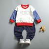 เสื้อ+กางเกง ปกสีแดง แพ็ค 4ชุด ไซส์ 80-90-100-110 (เหมาะสำหรับ 6ด.-4ปี)