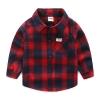 เสื้อเชิ้ตแขนยาวลายสก็อตใหญ่สีแดง [size: 2y-3y-4y-5y-6y]