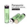 แบบเตอรี่แบบชาร์จ Panasonic NCR 18650 3400 mAh Protected (แบบมีวงจร) ของแท้ 100%