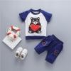 ชุดเซตเสื้อลายน้องหมีถือหัวใจ+กางเกงสีกรมท่า [size 6m-1y-2y-3y]