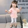 ชุดเซตเสื้อสีชมพูอ่อน+กางเกงสีขาว [size 6m-1y-18m-2y-3y]
