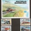 แสตมป์แอนติกาและบาร์บูดา ชุด TRAINS ปี 1986 - Antigua and Barboda