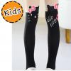 [ไซส์เด็ก] K7846 ถุงน่องเด็ก แบบสีดำครึ่งขา ลายคิตตี้