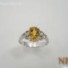 แหวนเงินซิทรีน (Silver ring citrine)
