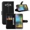 เคส Samsung E5 แบบฝาพับด้านข้างหนังเทียมสีพื้นคลาสสิค ด้านในสามารถใส่บัตรได้ควรมีไว้สักอัน ราคาถูก