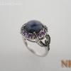 แหวนเงินสตาร์น้ำเงิน (Silver ring star sapphire)