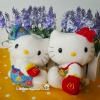 เซ็ตคู่ 2 ชิ้น เฮลโหลคิตตี้&แดเนียล Mcdonald's Hello Kitty & Dear Daniel Summer Holiday Costume ( wisdom of Love 1999)