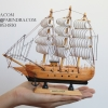 โมเดลเรือสำเภาไม้ขนาด 8 นิ้ว แต่งโต๊ะทำงาน สำหรับการตกแต่งบ้านและร้านค้าทั่วไป No.3