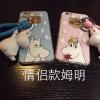 เคส iPhone 6s / iPhone 6 (4.7 นิ้ว) พลาสติกลายการ์ตูน Moomin แสนน่ารัก พร้อมด้วยที่ห้อยเช้าชุด ราคาถูก