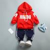 เสื้อ+กางเกง สีแดง แพ็ค 4ชุด ไซส์ 80-90-100-110 (เหมาะสำหรับ 6ด.-4ปี)