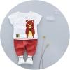 ชุดเซตเสื้อสีขาวลายน้องหมี+กางเกงสีน้ำตาล แพ็ค 4 ชุด [size 6m-1y-2y-3y]