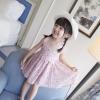 ชุดเดรสแขนกุดลายดอกไม้สีชมพูพร้อมหมวก [size 2y-5y]