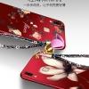 เคส Samsung A8 Star ซิลิโคนสกรีนดอกไม้สวยงามมาก พร้อมสายคล้องมือ (แหวนแล้วแต่ร้านจีนแถมหรือไม่) ราคาถูก
