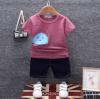 เสื้อ+กางเกง สีม่วง แพ็ค 4 ชุด ไซส์ 80-90-100-110
