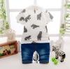 ชุดเซตเสื้อสีขาวลายหมี+กางเกง 200*3