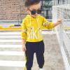 เสื้อ+กางเกง สีเหลือง แพ็ค 5ชุด ไซส์ S-M-L-XU-XXL(เหมาะสำหรับ 6ด.-4ปี)