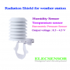 Radiation shield weather sensor