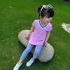 เสื้อตัวยาวสีชมพูแต่งหัวใจที่หน้าอก แพ็ค 5 ชิ้น [size 2y-3y-4y-5y-6y]