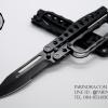 มีด Smith and Wesson มีดพับสนับชก มีดต่อสู้ระยะประชิด Tactical (OEM) แสตนเลสทั้งแท่งสีดำ