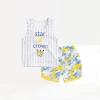 ชุดเซตเสื้อกล้ามกางเกงลายพรางสีเหลือง [size 6m-1y-2y-3y]