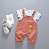เสื้อ+เอี๊ยมกางเกง สีส้ม แพ็ค 4 ชุด ไซส์ 80-90-100-110