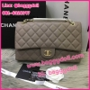 """Chanel Classic Caviar 10"""" กระเป๋าชาแนลคลาสสิค หนังคาร์เวียร์ **เกรดท๊อปพรีเมี่ยม*** (เลือกสีด้านในค่ะ)"""