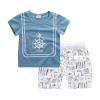 ชุดเซตเสื้อสีฟ้าลายสมอเรือ+กางเกงสีขาว แพ็ค 5 ชุด [size 6m-1y-18m-2y-3y]