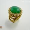แหวนเงินโมรา (Green Agate Silver Ring)