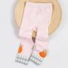 กางเกงเลคกิ้งสีชมพูลายนกกีวีสีส้มที่ปลายขา แพ็ค 6 ชิ้น [size 1y-2y-3y]