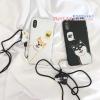 เคส iPhone X พลาสติกสกรีนลายน้องหมา แสนน่ารัก ราคาถูก (ไม่รวมสายคล้อง)