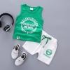 ชุดเซตเสื้อกล้ามสีเขียว แพ็ค 4 ชุด [size 6m-1y-2y-3y]