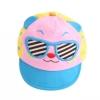 หมวกน้องหมีใส่แว่นสีชมพู