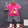 เสื้อ+กางเกง สีโรส แพ็ค 4 ชุด ไซส์ 80-90-100-110