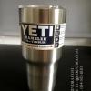 แก้วน้ำ YETI เก็บความเย็นได้ดีเยี่ยม สีเงินแสตนเลส อย่างดี (OEM)