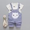 ชุดเซตเสื้อลายกระต่าย+เอี๊ยมลายน้องแมวสีฟ้าอมม่วง [size 6m-2y-3y]
