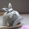 หมวกเด็กลายกระต่ายสีเทา